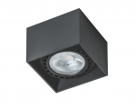 Do biura lampa natynkowa LED kwadratowa AZzardo ECO ALEX 15W GM4211 BK DIM