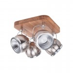 Spotlight plafon/lampa sufitowa BALL WOOD satyna 5031474