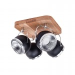Spotlight plafon/lampa sufitowa BALL WOOD czarny 5033474