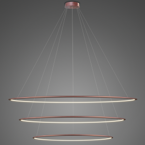 Lampa sufitowa różowa do salonu Altavola Led shape LED LA075/P_180_in_3k_rose_gold
