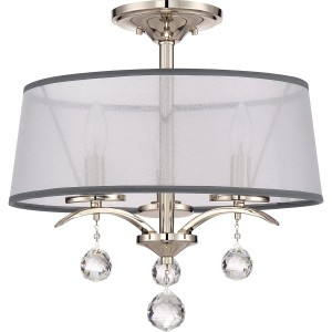 Lampa sufitowa srebrna do jadalni Elstead Whitney QZ-WHITNEY-SF