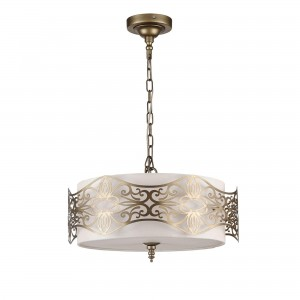 Lampa sufitowa mosiądz do salonu Maytoni Burgeon ARM959-PL-04-G
