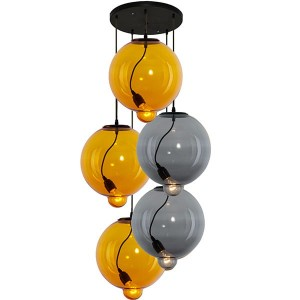Altavola lampa wisząca Modern Glass Bubble dymiony LA009/CO_yellow_smoky