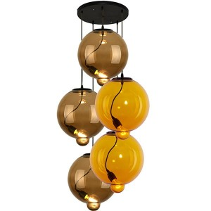 Altavola lampa wisząca Modern Glass Bubble żółty LA009/CO_coffe_yellow