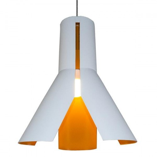 Lampa sufitowa biała do sypialni Altavola Origami Design LA045/P_white-orange